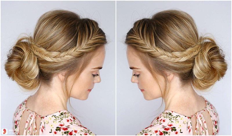 kiểu tóc búi đơn giản